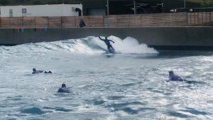 Rupert Hambly surfing
